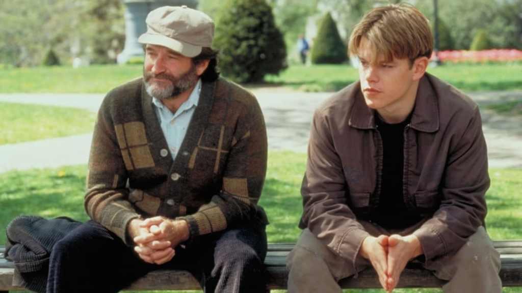 Matt Damon and Robin Williams in 'Good Will Hunting'