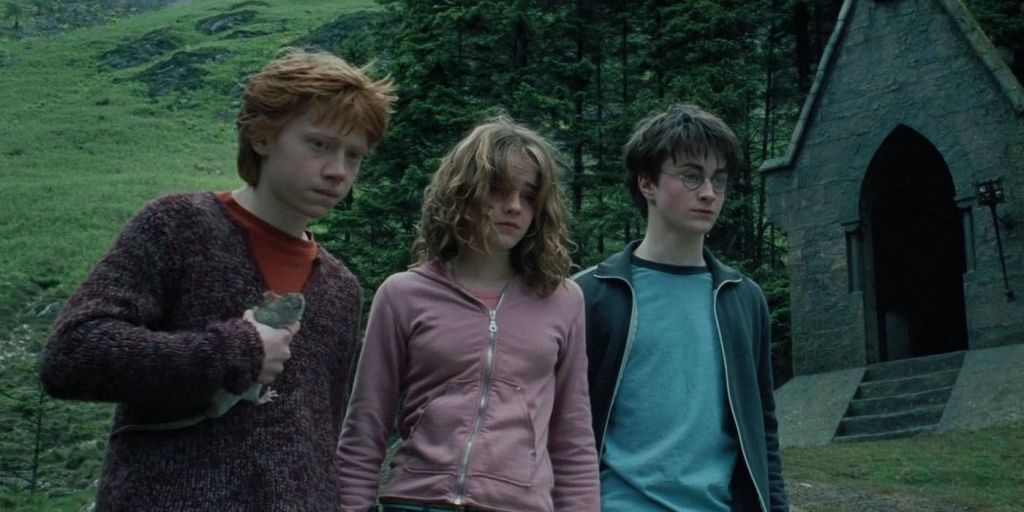 Harry, Ron and Hermione in 'Harry Potter and The Prisoner of Azkaban'