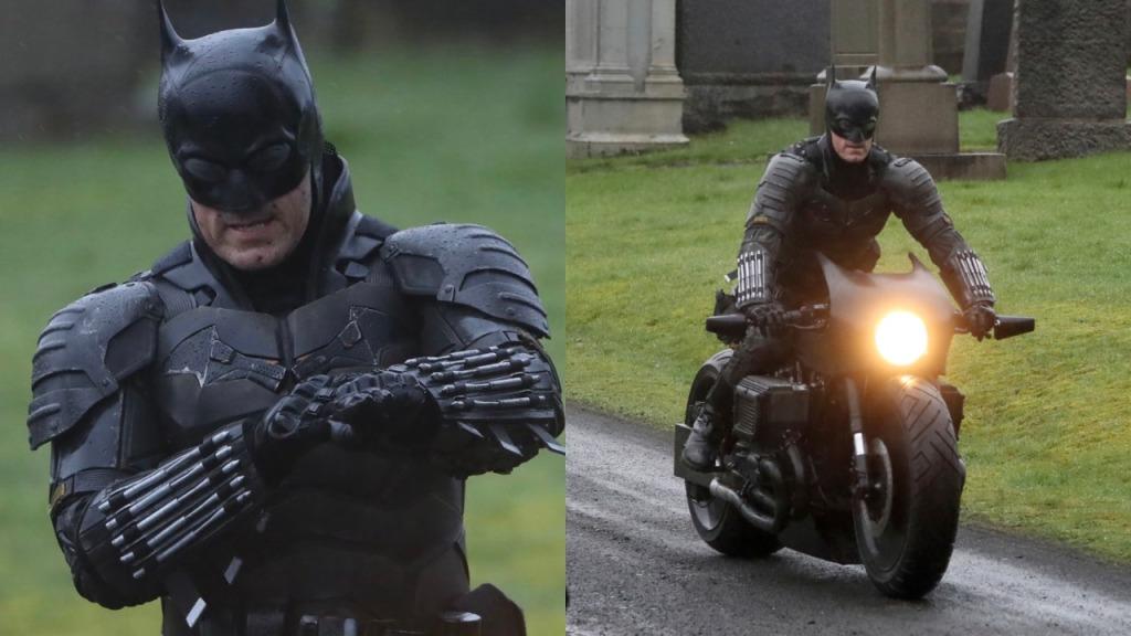 Behind the scenes photos of Robert Pattinson filming 'The Batman'