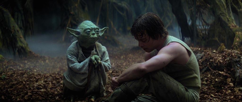Yoda speaks to Luke in 'The Empire Strikes Back'