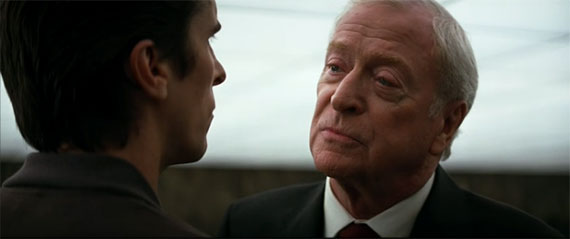 Alfred speaking to Bruce Wayne in 'Batman Begins'